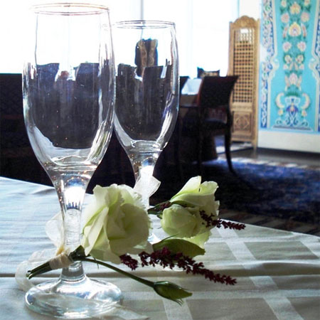 Floral decoration wedding restaurant Navruz